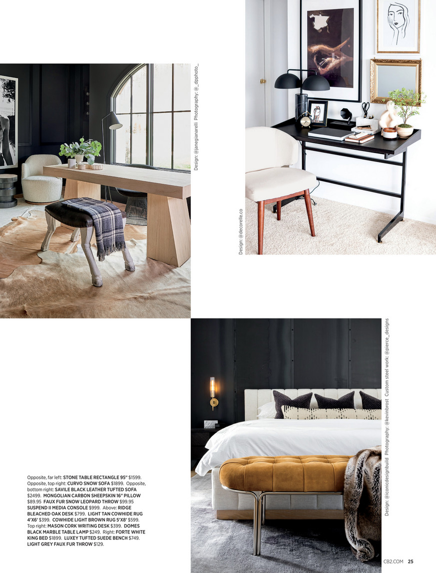 Cb2 August Catalog 2020 Domes Black Marble Table Lamp