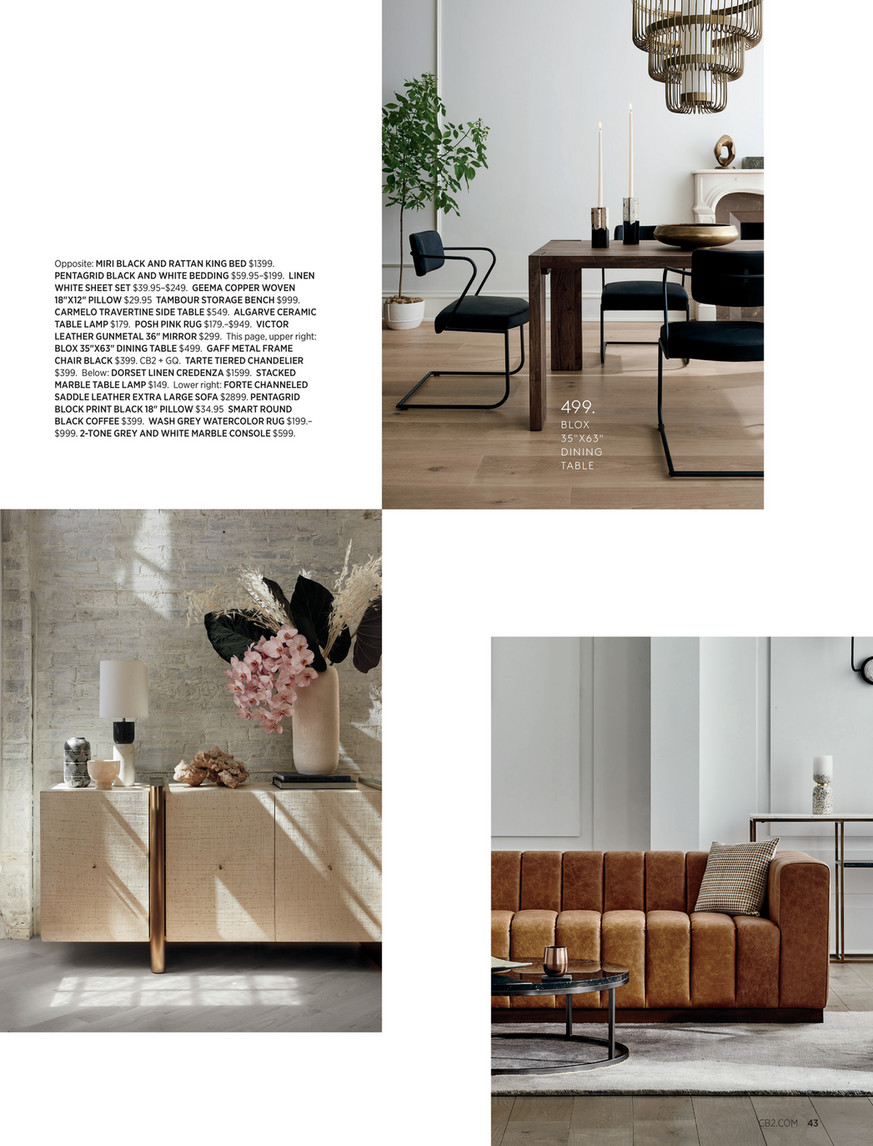 Cb2 September Catalog 2020 Camille Acacia Wood Dining Table