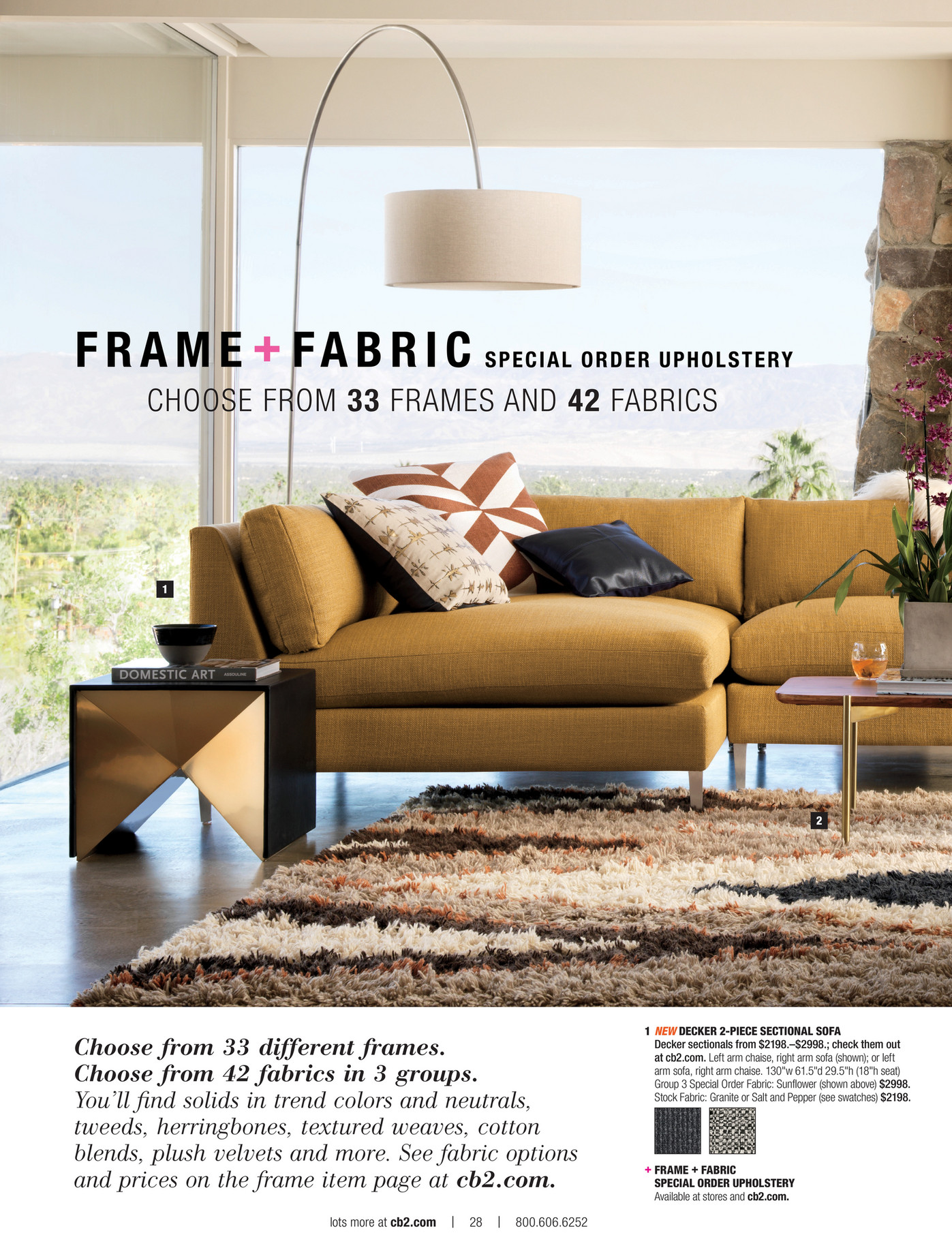 frame fabric special order upholstery available at stores and cb2com