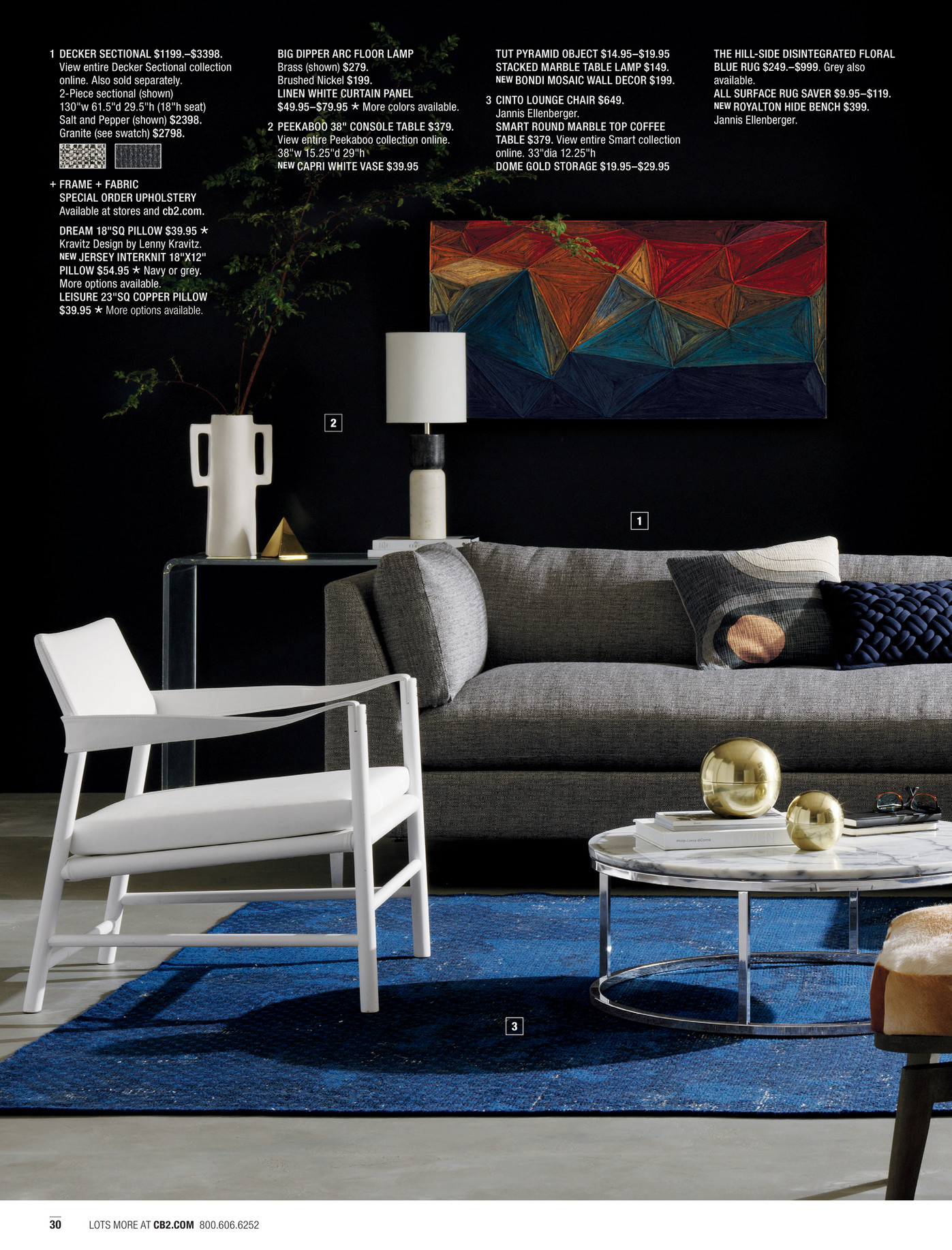 Cb2 Round Coffee Table Cb2 March Catalog 2017 Page 30 31