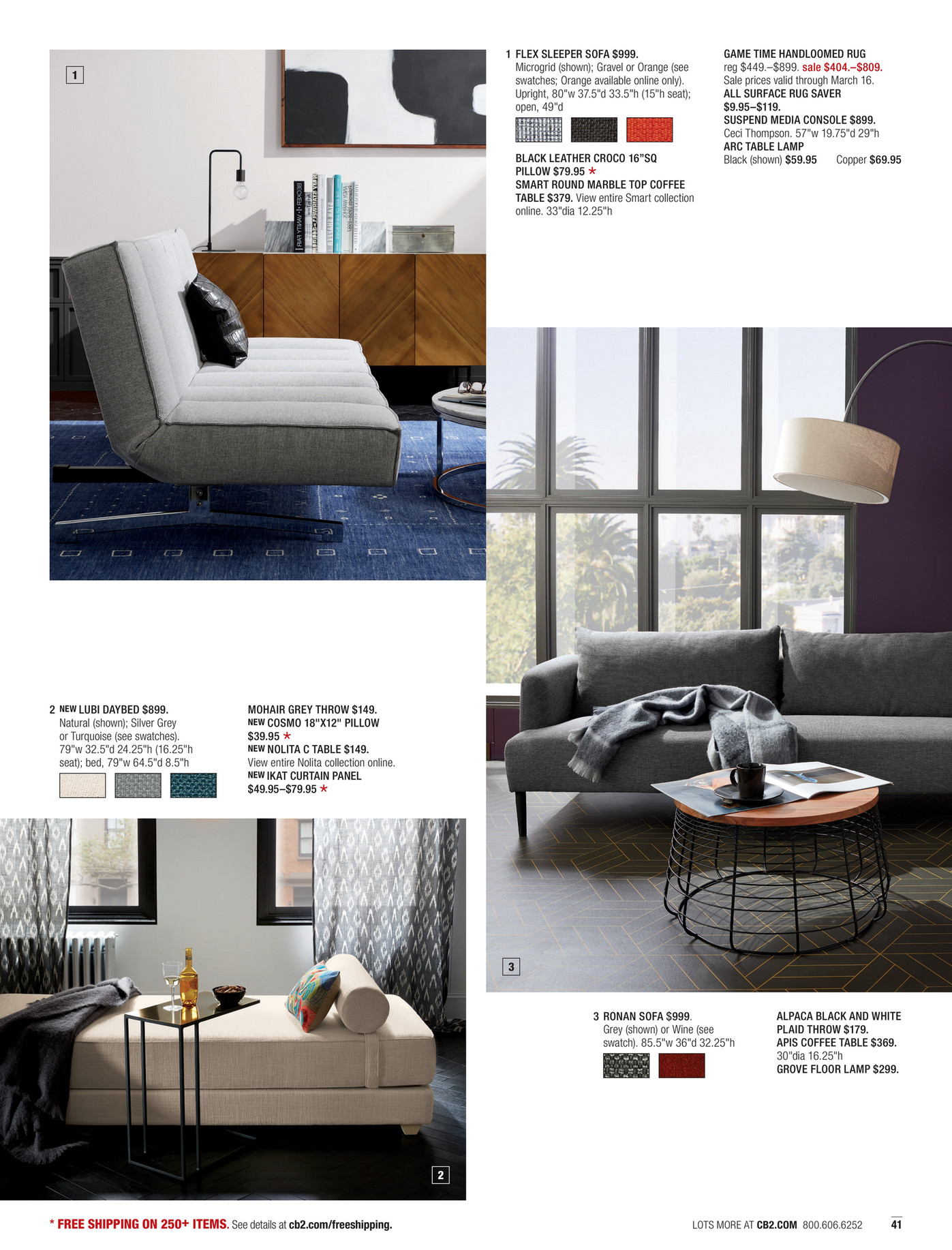 Cb2 Round Coffee Table Cb2 March Catalog 2017 Page 40 41