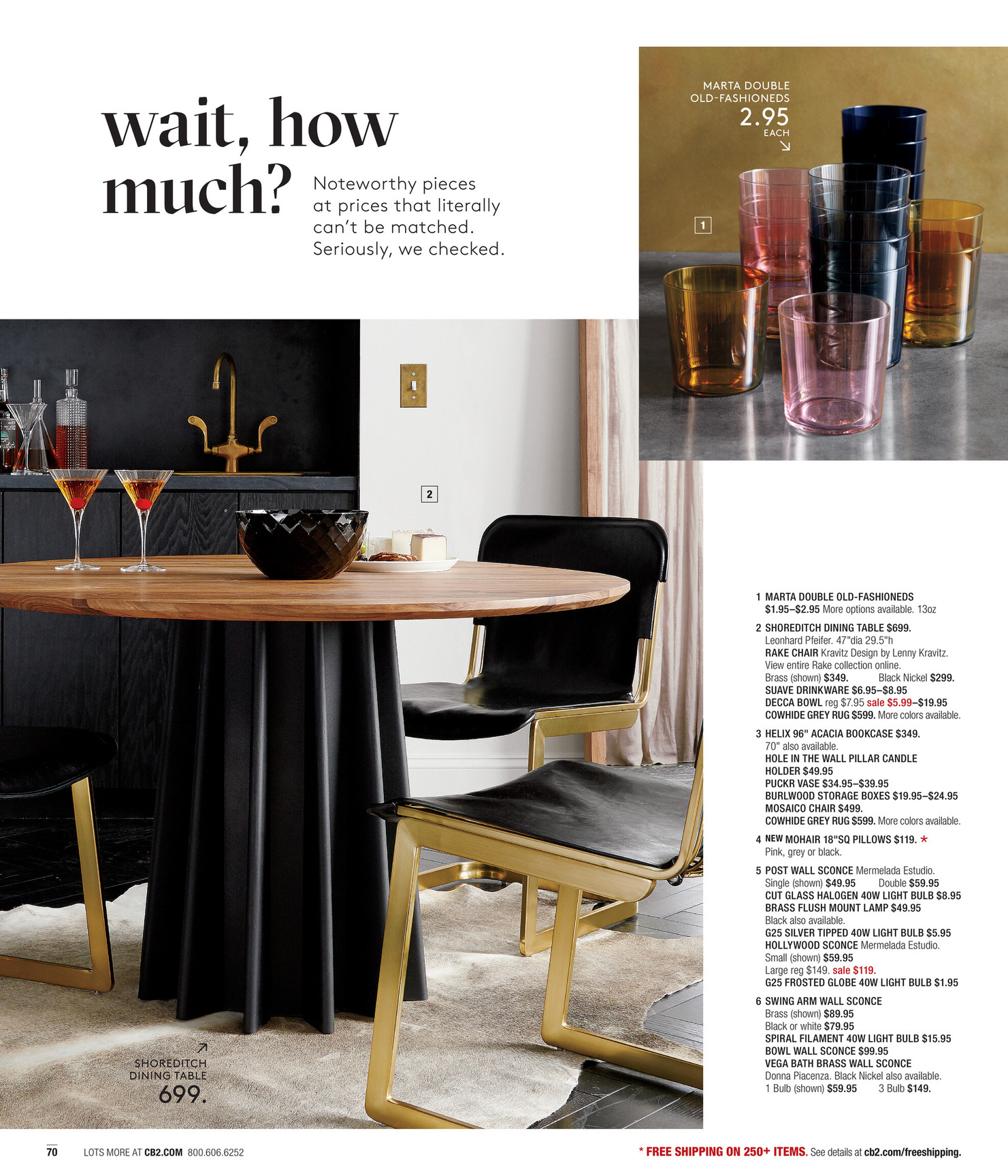 cb2 april catalog page 70 71 cb2 glass dining table all