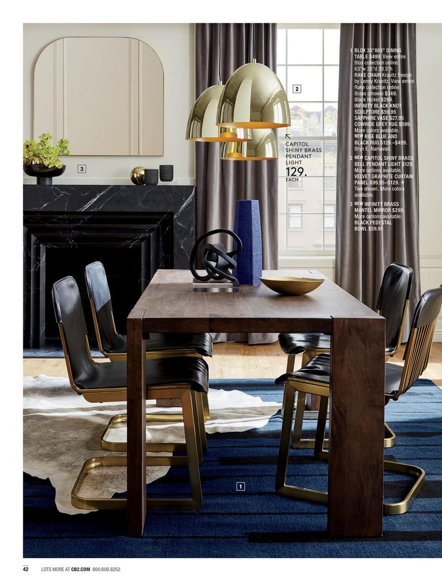 Cb2 January Catalog 2018 Blox 35x63 Dining Table